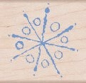 Painted Snowflake Wood Mounted Rubber Stamp