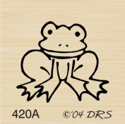 Tiny Frog Rubber Stamp By DRS Designs