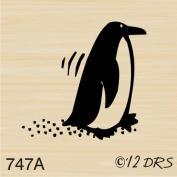 Skippy the Penguin Rubber Stamp By DRS Designs