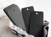 Pack of 20 Black Kraft Paper Luggage Tags Price Label