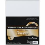 Core'dinations Value Pack Cardstock 22cm x 28cm 40/Pkg-Snowcap - Textured