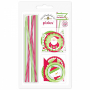 Home For The Holidays Pixies & Flags Assortment Pack-Makes 32 Embellishments