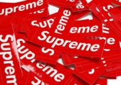1pc Supreme Box Logo Skateboard Sticker