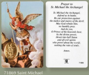 Rosarybeads4u St Saint Michael Verse Prayer Card & Medal