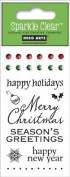 Hero Arts Holiday Messages Clear Stamp Set