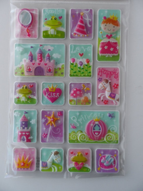 17 PRINCESS Pop-up Stickers for 3-dimensional Effect
