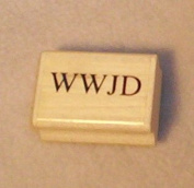 WWJD Rubber Stamp