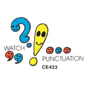Watch Punctuation- Large Rubber Stamper