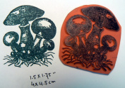 Vintage mushrooms rubber stamp Cling Mounted
