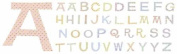 Chipboard Alphabet With Designer Finish-Relax Glitter Uppercase