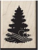 Christmas Tree Wood Stamo