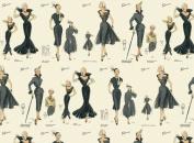 Rossi Decorative Paper- Vintage Womens Fashion Illustrations 70cm x 100cm Sheet