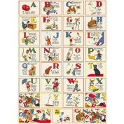 ABCs Alphabet Decorative Decoupage Vintage Retro Style Paper Poster Print