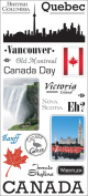 Canada Jumbo Clear Stickers