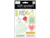 Bride Glitter Dimensional Scrapbook Stickers