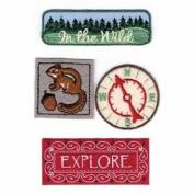 Woodland Fabric Details Scrapbook Stickers