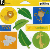 Pebbles Inc. Stickers Zoo Wild Animals