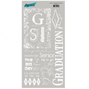 Seniors Rule Graduation Rub-Ons for Scrapbooking