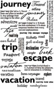 Rub-On Sentiments & Phrases 14cm X9 Inch -Vacation