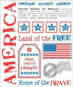 America Say It With Stickers Scrapbook Stickers
