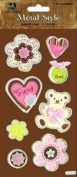 Friend Metal Edge Tag Dimensional Scrapbook Stickers