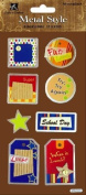 School Day Metal Edge Tags Scrapbook Stickers