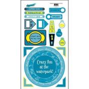 Water Park Cardstock Scrapbook Stickers