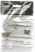 Confirmation Peel and Stick Charmed Ribbon Trios