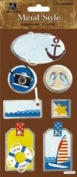Cruise Vacation Dimensional Metal Edge Scrapbook Stickers