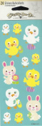 CHICKENS AND BUNNIES STICKERS
