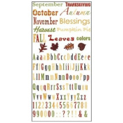 Fall Harvest Rub-ons for Scrapbooking