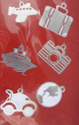 Travel Silver Lil' Charms for Scrapbooking