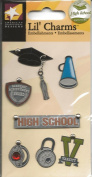 High School Graduation Metal Lil' Charms for Scrapbooking