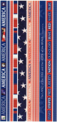 America Photo Banner Ribbon Border Scrapbook Stickers