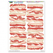 Bacon Strips of Awesomeness - Food SLAP-STICKZ(TM) Party Scrapbook Craft Car Window Locker Stickers