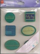 Baby Boy Acrylic Accent Scrapbook Stickers