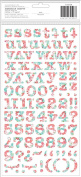 Garden Party Thickers Alpha Stickers 14cm x 28cm 2/Sheets-Bliss/Print Chipboard