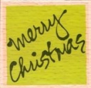 Vap! Scrap - Merry Christmas - Wood Mounted Rubber Stamp