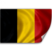 Sticker (Decal) with Flag of Belgium