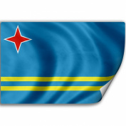 Sticker (Decal) with Flag of Aruba
