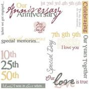 Karen Foster Design 12x12 Rub Ons-Anniversary