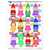 Cute Gnomes - Lawn Fantasy Funny SLAP-STICKZ(TM) Party Scrapbook Craft Car Window Locker Stickers