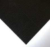 Corrugated Paper- Black 70cm x 50cm Sheet