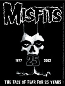 The Misfits 25 Year Skull Of Fear Sticker