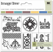 Image Tree Clear Stamp Card Set-Winter