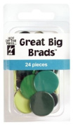 Hot Off The Press - Green Apple Great Big Brads