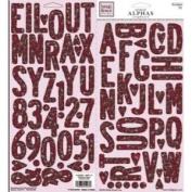 Valentine's Day Chipboard Alphabet for Scrapbooking
