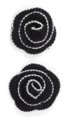 Jolee's Boutique Dimensional Stickers, Black Houndstooth Crochet Flower