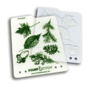 Timeless Touches Stamp & Stitch, Stamp & Template Set - Forest