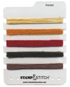 Timeless Touches Stamp & Stitch, Fibre Set - Forest